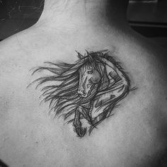 Horse for Agata #horse #horsetattoo #horses #tattoo #tattoooftheday #tattoos #inkedgirl #ink #inked #inkedup #blackwork #black #blackworkerssubmission #blackworkers #sketch #sketchstyletattoo #sketchstyle #polishtattooartist #polishtattoo #warsaw #poland