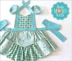 Diamond Girl Apron featuring Little Miss Sunshine: It's Moda Moms Week…