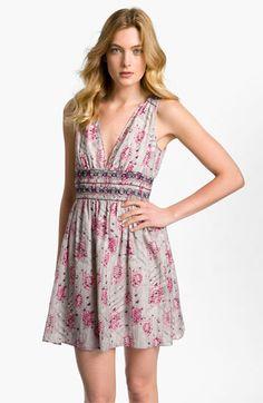 Theory 'Carmentina - Zodiac' Print Cotton & Silk Dress | Nordstrom
