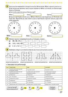 Clasa a III-a : Fişe de recapitulare şi evaluare finală clasa a III-a Periodic Table, Activities, School, Periotic Table