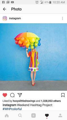 Rainbow umbrella Halloween costume idea. Saved from Instagram