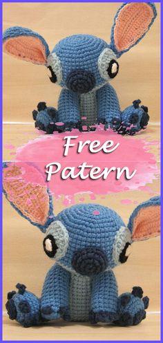 Amigurumi Stitch From Lilo und Stitch Free Pattern Crochet, Amigurumi, Crochet A . Disney Crochet Patterns, Crochet Disney, Crochet Amigurumi Free Patterns, Crochet Toys, Knitting Patterns, Crochet Stitches Free, Crochet Gratis, Cute Crochet, Crochet For Kids