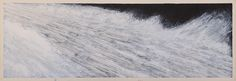 Carol Mickett and Robert Stackhouse Fast Water, 2015 Acrylic on paper mounted on canvas 20 x 60 inches