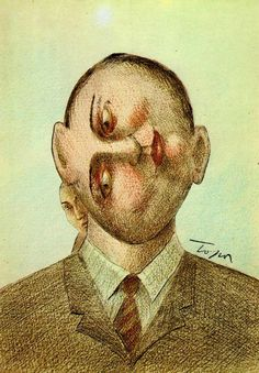 기괴하고 엽기적이고 불편하기 짝이 없는 롤랑 또뽀르(Roland Topor)의 그림 : 네이버 블로그 Art And Illustration, Dark Art Drawings, Statues, Fantasy Kunst, Magritte, Fantastic Art, Whimsical Art, Banksy, Caricature