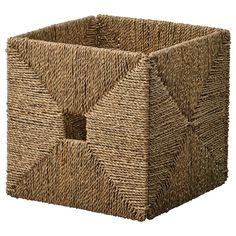IKEA - KNIPSA, Basket, seagrass, Perfect for newspapers, photos or other memorabilia. Sea grass has natural color variations which makes every basket unique. The box fits perfectly in KALLAX shelf. Each basket is woven by hand and is therefore unique. Ikea Stockholm, Ikea Mandal, Ikea Kallax, Kallax Insert, Kallax Shelving Unit, Kallax Regal, Plastic Foil, Ikea Family, Colors