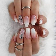 Pink And White Nails Pink And White Nails Provide organic texture to pro. - cat - Pink And White Nails Pink And White Nails Provide organic texture to protect your health an - Sexy Nail Art, Sexy Nails, Trendy Nail Art, Perfect Nails, Gorgeous Nails, White Nails, Pink Nails, Glitter Nails, Glitter Art