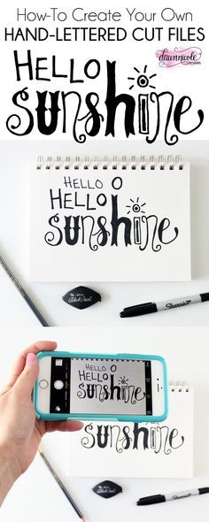 How to Create Hand-Lettered Silhouette Cut Files | Create your own cut files using this simple step-by-step how-to with video from dawnnicoledesigns.com.
