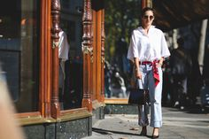 """The Best """"What IS She Wearing?"""" Looks From Paris #refinery29  http://www.refinery29.com/2015/10/95202/paris-fashion-week-spring-2016-street-style-pictures#slide-39  *Starts using scarves as belts.*..."""