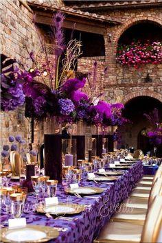 sasha souza wedding gallery | Photo: Perfect purple passion decor by Sasha Souza Events