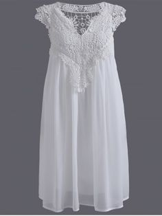 GET $50 NOW | Join RoseGal: Get YOUR $50 NOW!http://www.rosegal.com/plus-size-dresses/plus-size-lace-spliced-hollow-672555.html?seid=5899170rg672555