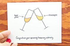 funny pregnancy card pregnancy card temporary sobriety - Pregnancy Congratulations Card