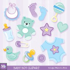 BABY BOY Clipart Vector Clip Art Illustrations by MNINEDESIGNS Boy Illustration, Art Illustrations, Baby Boy Shower, Baby Shower Gifts, Moldes Para Baby Shower, Baby Shower Clipart, Baby Boy Scrapbook, Baby Clip Art, Scrapbooking
