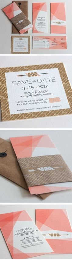 Wedding Invitations - Emily & Andy by Joseph DeFerrari, via Behance #weddinginvitation