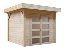 400 x 300 cm) Tuinhuisje Parelhoen kan onder hoge druk geïmpregneerd worden. Pergola, Garage Doors, Shed, Outdoor Structures, Outdoor Decor, Home Decor, Budget, Van, Chalets