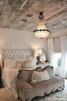 20 Modern Ideas for Master Bedroom Decor Comfy Bedroom, Bedroom Decor, Bedroom Ideas, Bed Ideas, Bedroom Furniture, Serene Bedroom, Shabby Bedroom, Casa Kardashian, Wooden Ceilings