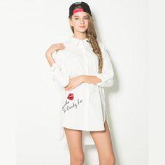 New 2016 Spring Women Blouses Embroidery White Shirt Dress Casual Long Shirts Street Fashion Women Tops Blusa Feminina Plus Size