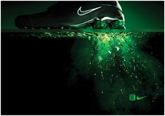 The Print Ad titled Nike Shox: Green was done by Us Sydney advertising agency for product: Nike Shox (brand: Nike) in Australia. Nike Shoes Photo, Nike Free Shoes, Nike Shoes Outlet, Nike Shox, Nike Huarache, Green Marketing, Shoe Poster, Nike Ad, Ad Of The World