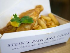 Rick Steins fish & chips, Padstow, Cornwall.