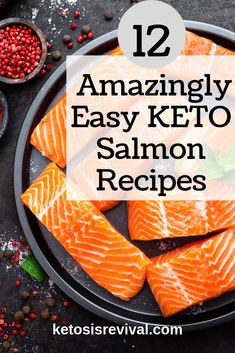 Salmon is one of the healthiest, best-tasting fish you can eat. Whether you're eating the keto way or not, salmon is high in nutrients, and it can be cooked in so many ways and served Baked Salmon Recipes, Fish Recipes, Seafood Recipes, Appetizer Recipes, Low Carb Recipes, Healthy Recipes, Lunch Recipes, Dinner Recipes, Appetizer Ideas