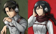 Repost of better quality art work Levi Ackerman, Armin, Mikasa, Levi And Erwin, Rivamika, Attack On Titan Ships, Art Forms, Crow, Manga Anime