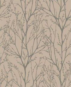 Twigs (31146) - Albany Wallpapers - A pretty all over twig design in grey on copper brown.  Available in other colours.  Please request sample for true colour match.