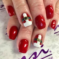 Santa Nails?! So Cut