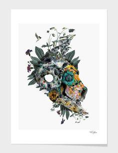"""Animal Skull"", Limited Edition Fine Art Print by RIZA PEKER - From $39.00 - Curioos #skull #collage #digital #art #rizapeker"