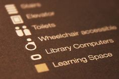 Deakin Library Wayfinding by Kine Halland, via Behance
