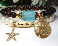 Pulsera pulsera estrella de mar pulsera joyas por BlueStoneRiver