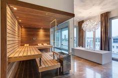 Welcome to Prestige Saunas, the exclusive UK supplier of Kung Saunas from Switzerland. Luxury Saunas & Steam room design & installation for home & commercial wellness. Saunas, Sauna Steam Room, Sauna Room, Design Sauna, Design Design, Jacuzzi, Sauna Hammam, Douche Design, Spa Rooms
