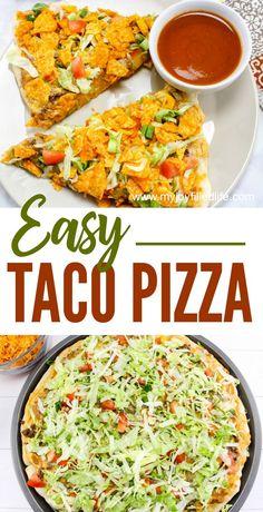 Easy Taco Pizza #recipe #easydinner #tacos