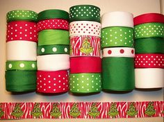 Ribbon Colors for a Grinch party