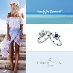 #ready #summer #lunatica #lunaticagioielli #roma #gioielli #jewelry #handmade #handcraft #colours #blue #five #collection #white #gold #diamonds #sapphire #acquamarine #shadow #madeinitaly #fashion #mood