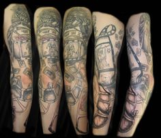Tattoo film theatre theater projector movie arm mens