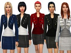 The Sims Resource: Fall/Winter set by Weeky • Sims 4 Downloads