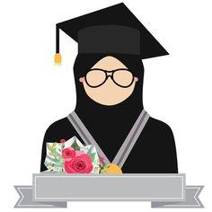 new Ideas design logo olshop kosong Muslim Girls, Muslim Women, Hijab Drawing, Islamic Cartoon, Anime Muslim, Hijab Cartoon, Congratulations Graduate, Islamic Girl, Graduation Photos