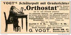Original-Werbung/Inserat/ Anzeige 1902 - VOGT'S SCHÜLERPULT UND GRADERICHTER ORTHOSTAT  - ca. 90 x 50 mm