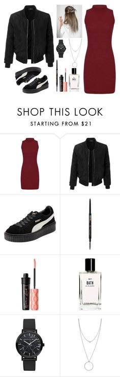 """Slowly"" by tanya-tsygankova ❤ liked on Polyvore featuring LE3NO, Puma, Anastasia Beverly Hills, Benefit, Bobbi Brown Cosmetics, Christian Paul and Botkier"
