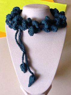 Bold Double Loop Handmade Crochet Necklace by joywelry2love, $19.99