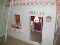 Build your own playhouse loft bed. My dad did this! Incredible, right???
