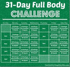 The challenge has 1 exercise which you've got to do every day. It is exactly as it sounds. My 30 days fitness challenge is to participate in various kinds of exercise. Doing a 30 days fitness challenge is just one… Continue Reading → 30 Day Workout Challenge, Month Workout, Workout Schedule, Plank Challenge, Workout Plans, Workout Calendar, Beginner Fitness Challenge, Beginner Full Body Workout, 2017 Challenge