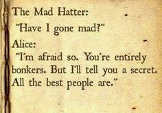 One of the best quotes ever from fiction. I had completely forgotten about it.