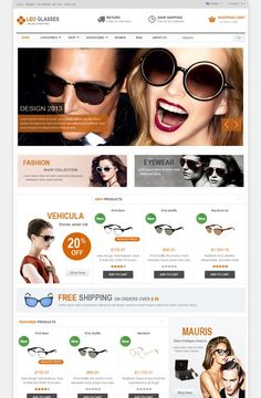 Leo Glasses Prestashop Theme, best theme, prestashop version 1.6.0.8, Responsive