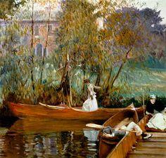 John Singer Sargent - A boating party
