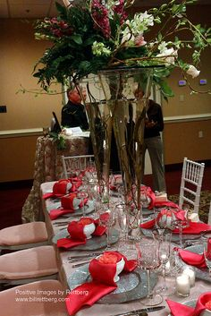 Full view of table at our 2011 Bridal Show by ColonnadeBaltimore, via Flickr