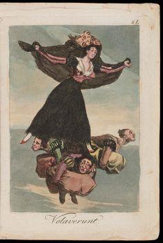 "Volaverunt. (They have flown); Plate 61 bound into ""Los Caprichos"" | Museum of Fine Arts, Boston"
