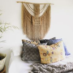 There is nothing petite or refined about this African inspired #tribal #jute #macrame piece! Raw, honest and earthy, she's individually handmade @roundnine9 #roundnine9