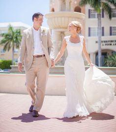 Sunny weddings in Florida are so much fun to shoot and Jamie and Jim's special day was no exception.  The light colors these two used are prefect along side the warmth and sun of Florida.  Photos by Clane Gessel Photography | #weddings #photography #bridalphoto