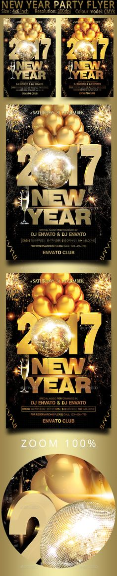 New Year Party  Psd Flyer Template  Psd Flyer Templates