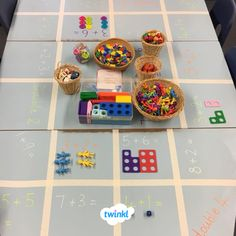 Fab Maths challenge table from Twinkl member, Victoria. There's lots of different games and challenges to develop children's mathematics learning. Perfect for use both at school and at home. Print out some maths resources to complement learning further. Year 1 Maths, Early Years Maths, Early Math, Numicon Activities, Maths Resources, Numeracy, Maths Eyfs, Eyfs Classroom, Maths Games Ks1